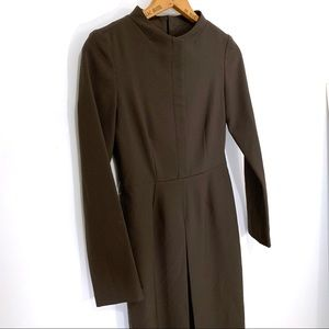Vintage Dresses - Vintage Green Long Sleeve Dress